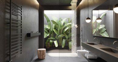 wooncoach inspiratie zwarte badkamer